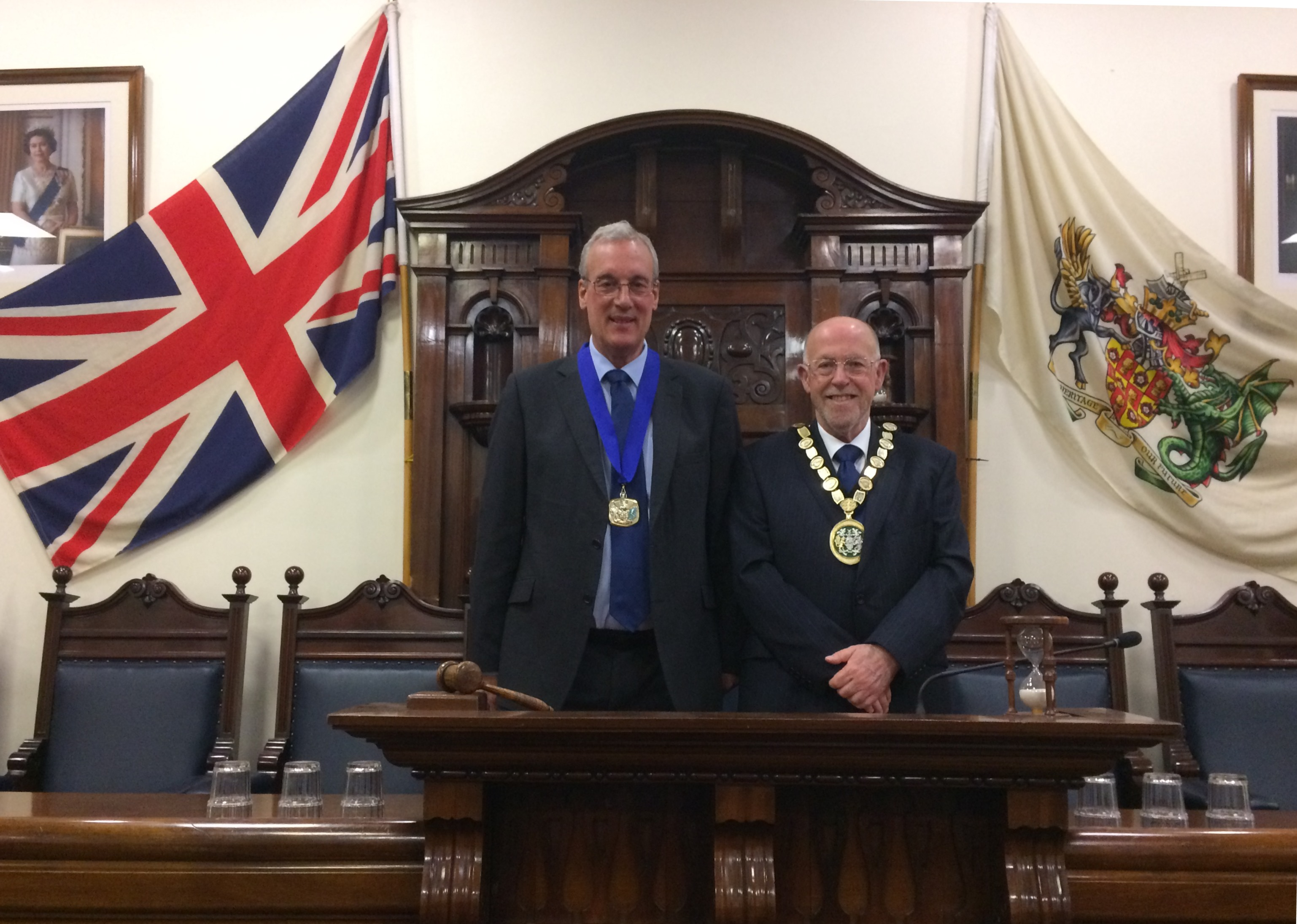 Chairman - Cllr Lesley Butcher and Vice Chairman Cllr David Merrick
