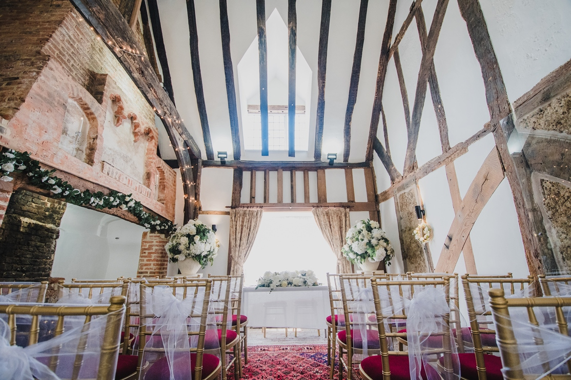 Inside the ceremony room - photo credit Clare Kentish Photography