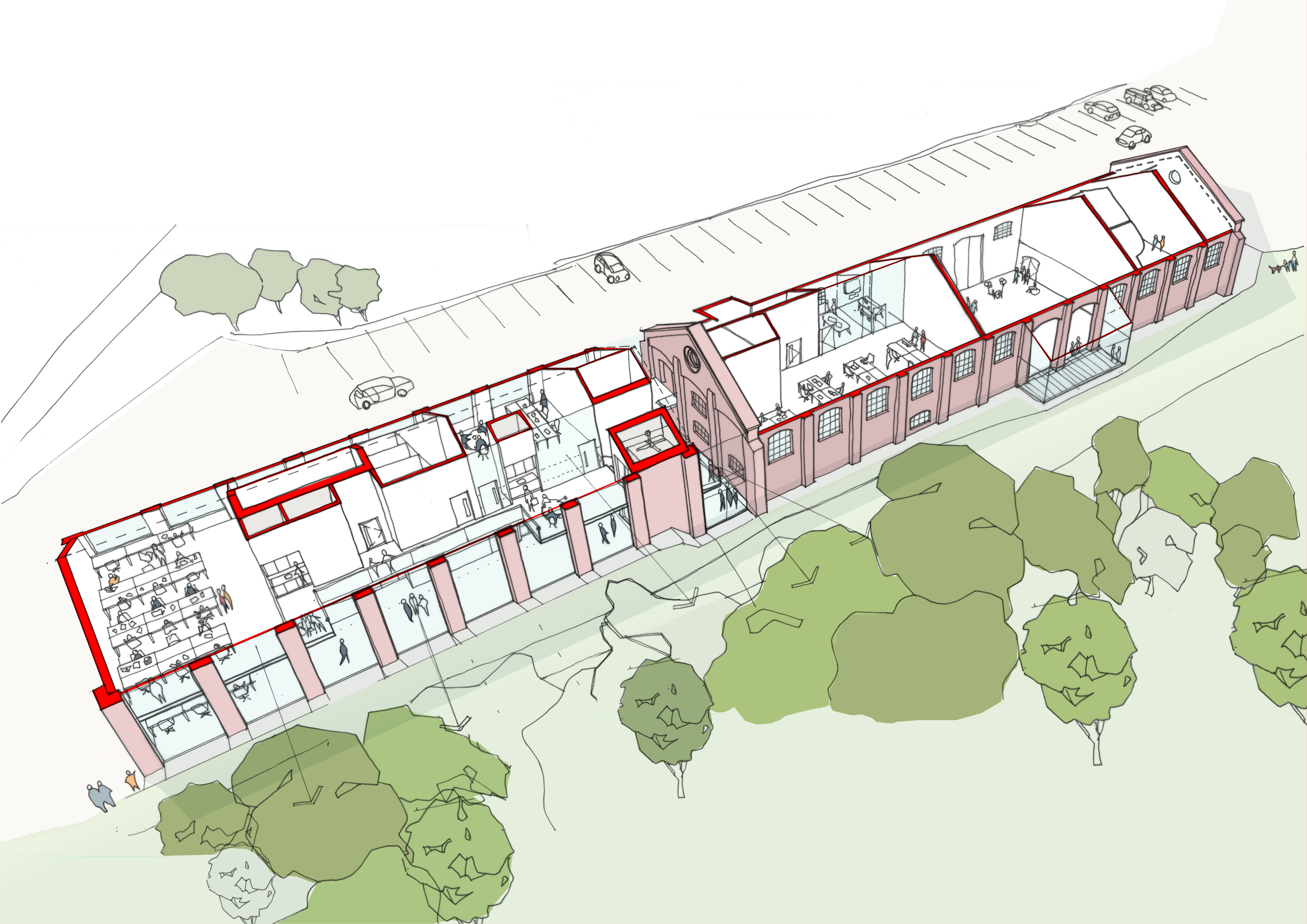 Freight House site artist's impression
