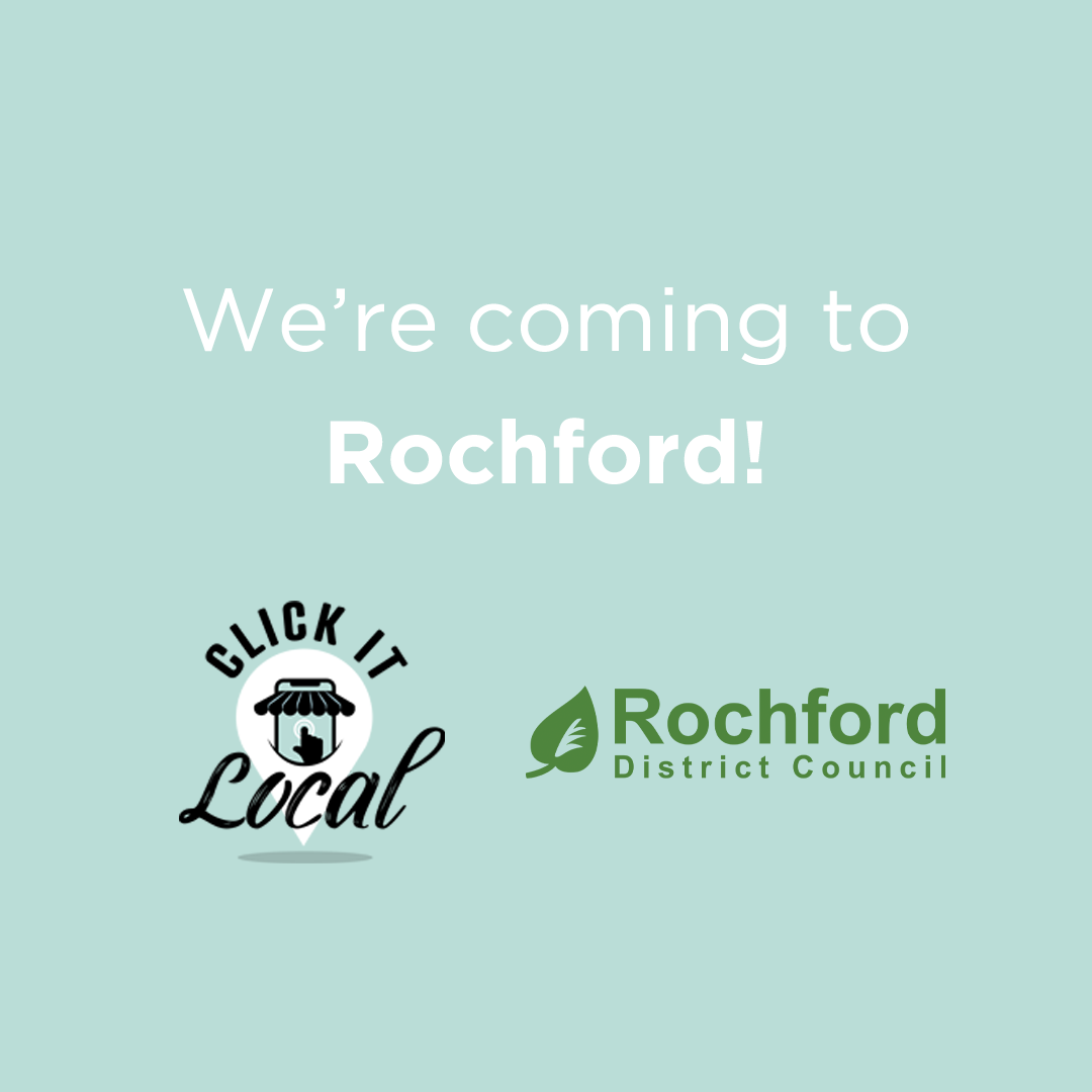 Click It Local is coming to Rochford District image, containing both the Rochford District Council logo and Click It Local logo.