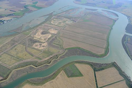 Wallasea  - aerial shot of site