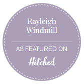 Rayleigh Windmill as Featured on Hitched logo