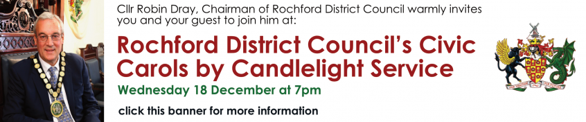 Invite to Civic Carol Service on 18th December - click on the banner for more information