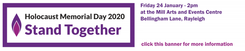 Holocaust memorial day - 24 January - click this banner for more information
