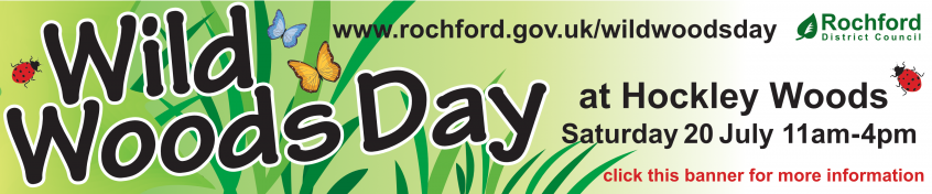 Green themed image advertising WIld Woods Day