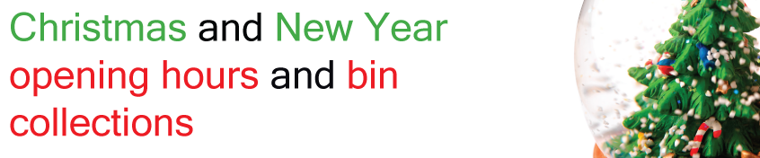 christmas and new year opening times and collections