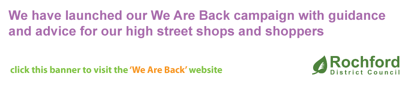 We Are Back website - guidance for businesses reopening - click this banner for more information