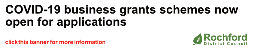 COVID-19 business grants schemes now open for applications - click this banner for more information