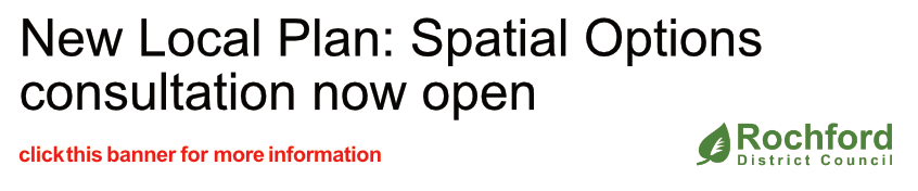New Local Plan: Spatial Options consultation now open - Click this banner for more information
