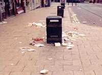 litter in the street - photo provided by Keep Britain Tidy