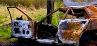 a photo of a burnt out abandoned vehicle - provided by Keep Britain Tidy