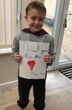 Youngster says thank you