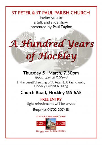 100 years of Hockley 2020 poster