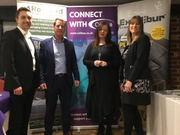 left to right – Craig Baston, Colbea, John Stevens, Excalibur Screwbolts, Ashleigh Seymour-Rutherford, Colbea and Paula Chapman, Rochford District Council.