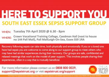 SE Essex Sepsis Support Group poster