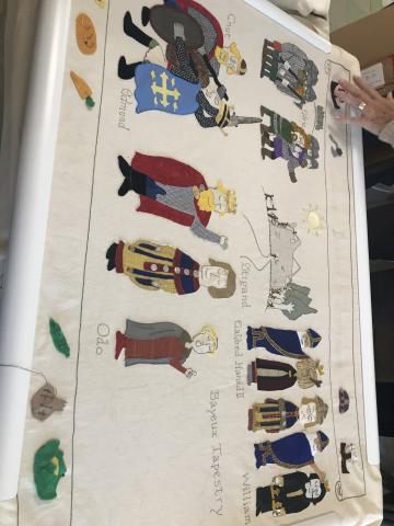Tapestry - Saxons, Danes & Normans panel
