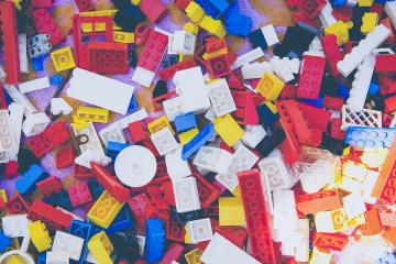 blocks of lego on carpet